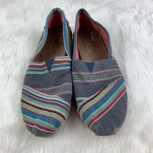 TOMS Striped Canvas Slip-On